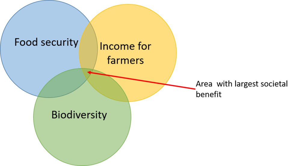 agriculture and biodiversity, societal benefit, food security